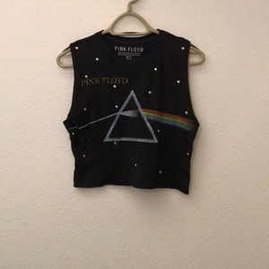 Pink Floyd graphic tee crop Top size small